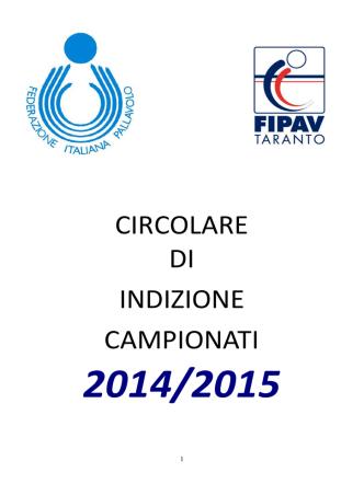 circolare indizione campionati 2014-2015