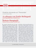 A colloquio con Emilio Bellingardi Roberto Rampinelli