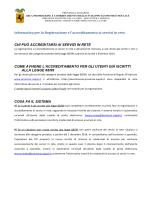 3.informativa registrazione e accerteditamento ai servizi in rete