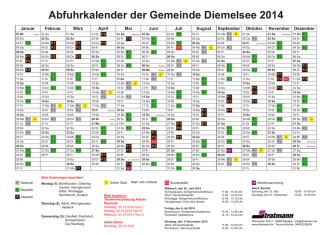 Abfuhrkalender der Gemeinde Diemelsee 2014