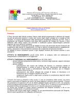PIANO ANNUALE DELLE ATTIVITA - Istituto Comprensivo di Traona