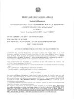 TRIBUNALE ORDINARIO DI AREZZO Sezione Fallimentare
