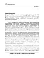 Sensori nello spazio - Università degli Studi di Trento
