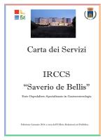 "Carta dei Servizi IRCCS ""Saverio de Bellis"""