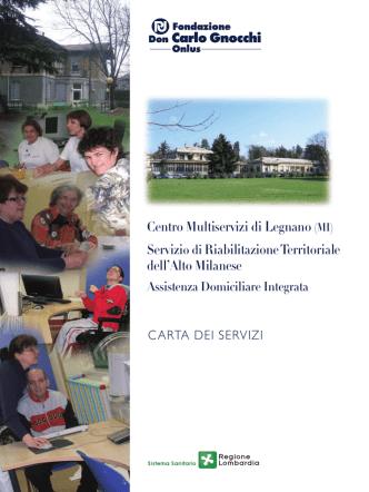 Carta dei Servizi - Fondazione Don Carlo Gnocchi