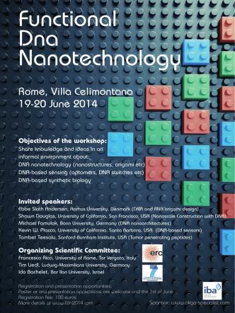 Announcement - Functional DNA Nanotechnology Workshop