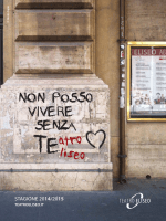 STAGIONE 2014/2015 - Associazione Suono e Immagine ONLUS