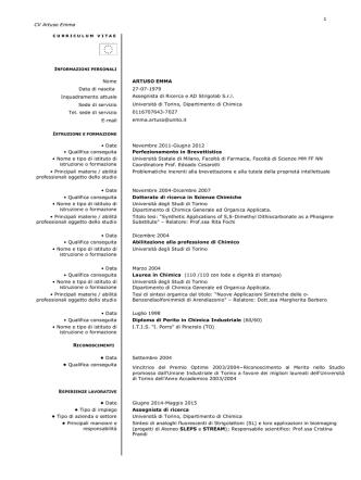 CV - CampusNet - Università degli Studi di Torino