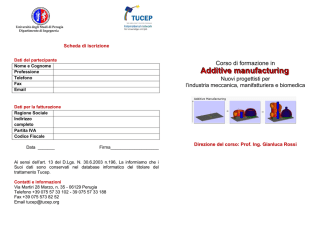Additive manufacturing - Ordine degli Ingegneri della Provincia di