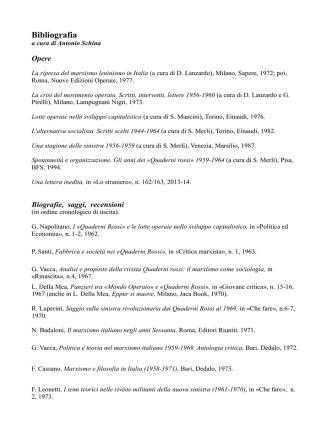 Bibliografia - antimoderati