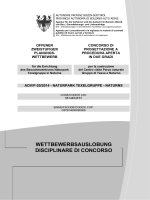 disciplinare di concorso - Autonome Provinz Südtirol