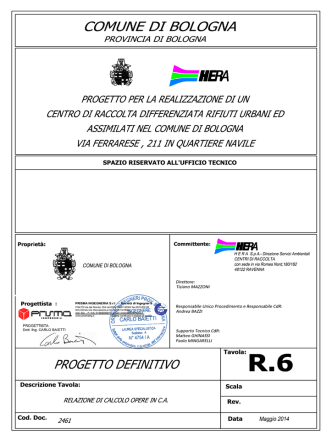 2461-All.R.6-RELAZIONE DI CALCOLO OPERE IN CA_maggio 2014