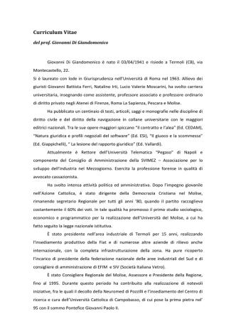 Curriculum Vitae - Università Telematica Pegaso