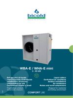 WBA-E / WHA-E mini W - Bicold Engineering