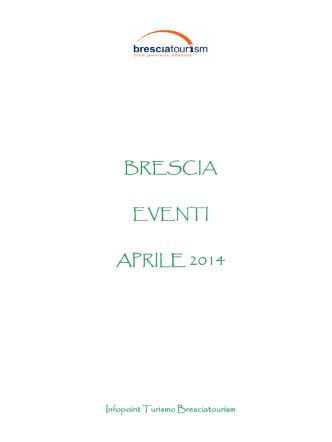 Calendario Aggiornato Eventi Brescia Aprile 2014