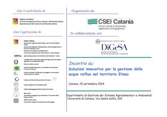 CSEI - Barbagallo - Seminario gestione acque reflue