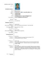 Curriculum Vitae Formato Europeo - Università degli Studi del Sannio