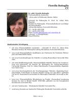 Fiorella Battaglia CV - Fakultät für Philosophie, Wissenschaftstheorie