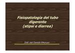 Fisiopatologia del tubo digerente (stipsi e diarrea)
