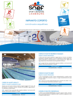 CORSI Piscina Coperta 2014 - Centro sportivo SNEF Lambrone