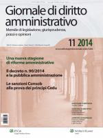 Il Giornale di diritto amministrativo rivista nr 11 2014