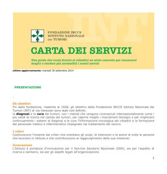 brochure INT ita.qxd - Istituto Nazionale dei Tumori