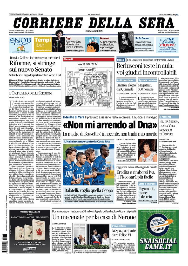 Corriere della sera 20.06.2014