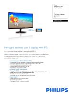 224E5QDAB/00 Philips Monitor LCD con SmartImage Lite
