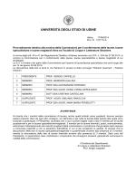 provvedimenti di nomina commissioni di laurea
