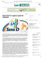 Serie D 2014-15: organico e gironi del campionato