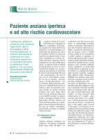 Paziente anziana ipertesa e ad alto rischio cardiovascolare