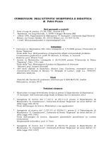 CV F. Punzo (dic-14) - Università degli Studi di Milano