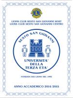 anno accademico 2014 /2015 - Università della Terza Età di Sesto