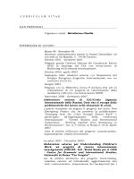 Curriculum vitae Claudia Battafarano