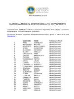 elenco ammessi - Università Cattolica del Sacro Cuore