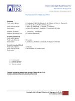 Febbraio - Collegio Didattico di Ingegneria Civile