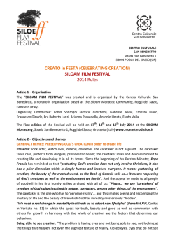 CREATO in FESTA (CELEBRATING CREATION