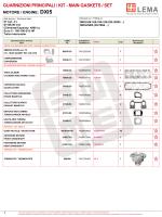 GUARNIZIONI PRINCIPALI / KIT - MAIN GASKETS / SET