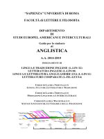 Programmi Letteratura Inglese - W3.UniRoma1.it