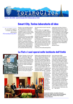 Smart City, Torino laboratorio di idee
