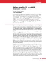 Welfare aziendale 2.0: tra criticità, innovazioni e servizi