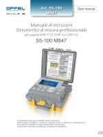 Manuale di istruzioni Strumento di misura professionale 55
