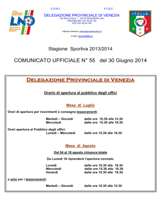 COM. UFF. 55 - FIGC Veneto