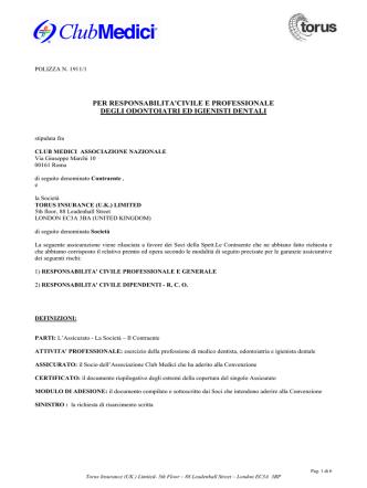 Condizioni di Polizza - Vogliotti Broker Torino