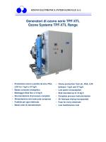 Generatori di ozono serie TPF-XTL Ozone Systems TPF