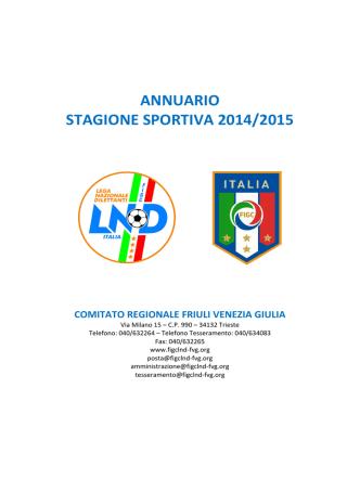 Annuario Società 2014/15