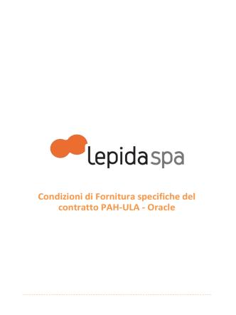 Condizioni di Fornitura specifiche del contratto PAH-ULA