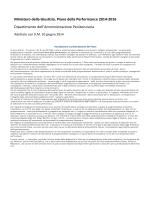 Ministero Giustizia: Piano Performance 2014-2016 del