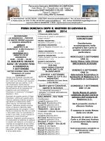 Avvisi e Calendario - Parrocchia di Madonna in Campagna
