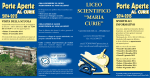 "Liceo Scientifico Curie 2014 - Liceo Scientifico ""M. Curie"" – Pinerolo"